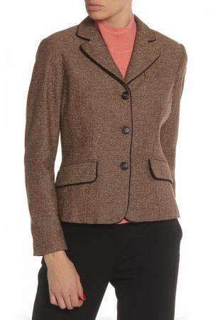 Пиджак CLIPS MORE. Цвет: коричневый