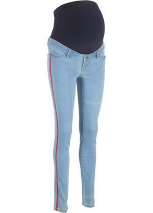 Джинсы-дудочки для беременных (нежно-голубой) bonprix. Цвет: нежно-голубой