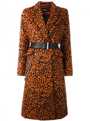 Пальто Leopard Misbhv. Цвет: жёлтый и оранжевый