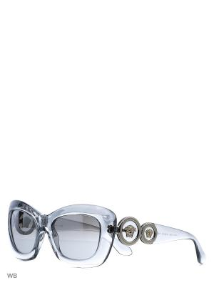 Очки солнцезащитные Versace. Цвет: прозрачный, серый
