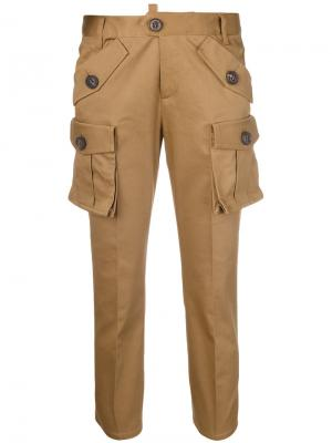 Scout style trousers Dsquared2. Цвет: коричневый