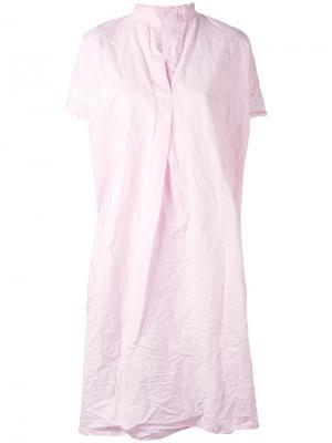 Платье с вырезом в китайском стиле Daniela Gregis. Цвет: телесный