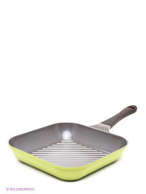 Сковорода Frybest. Цвет: коричневый, оливковый