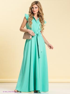 Платье LOVE&LIGHT. Цвет: бирюзовый