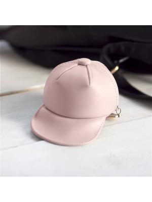 Кошелек-брелок GOOD MOOD КЕПКА. Цвет: розовый