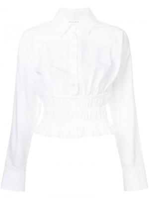 Рубашка со сборками на талии Robert Rodriguez. Цвет: белый