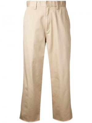 Укороченные брюки Cityshop. Цвет: телесный
