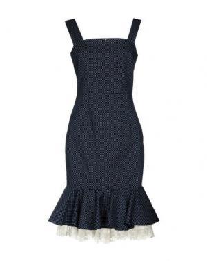 Платье до колена EUREKA. Цвет: темно-синий