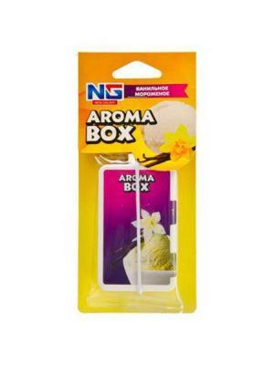 Ароматизатор подвесной арома бокс, ванильное мороженое New Galaxy. Цвет: желтый