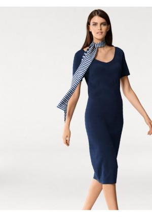 Платье PATRIZIA DINI by Heine. Цвет: темно-синий, экрю