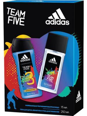 Adidas - Набор М team five парфюмированная вода 75 мл + гель для душа 250. Цвет: прозрачный