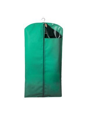 Чехол для костюмов и платьев Miolla. Цвет: зеленый