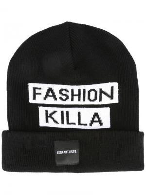 Шапка-бини fashion killa Les (Art)Ists. Цвет: чёрный