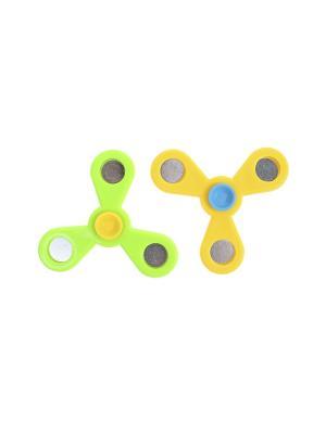 Комплект (Спиннер - 2 шт.) Happy Charms Family. Цвет: желтый, голубой, зеленый