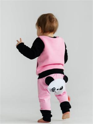 Штанишки для подгузников Панда розовый Yuumi. Цвет: розовый