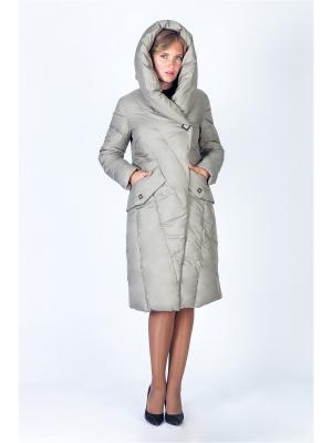 Пальто FREYA. Цвет: хаки