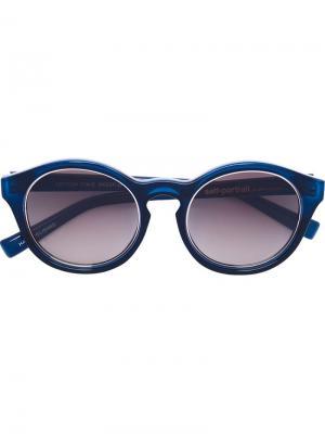 Солнцезащитные очки Self Portrait x Le Specs. Цвет: синий