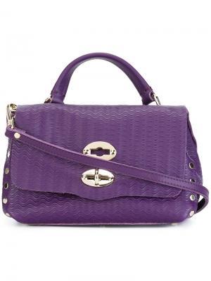 Текстурированная сумка через плечо Zanellato. Цвет: розовый и фиолетовый
