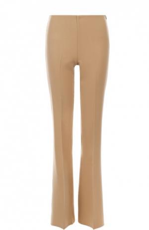Шерстяные расклешенные брюки Theory. Цвет: бежевый