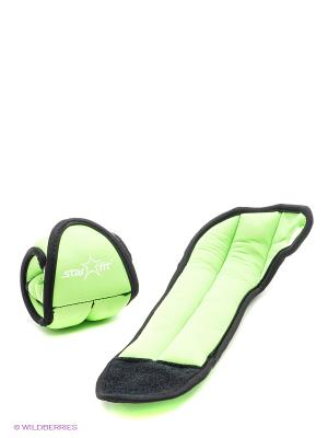 Утяжелители STAR FIT WT-201 для рук Эргономичные, 0,5 кг, зеленый/черный starfit. Цвет: черный, зеленый