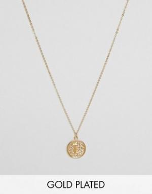 Ottoman Hands Ожерелье с инициалом L на подвеске. Цвет: золотой