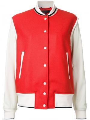 Куртка-бомбер с контрастными панелями Rag & Bone. Цвет: красный