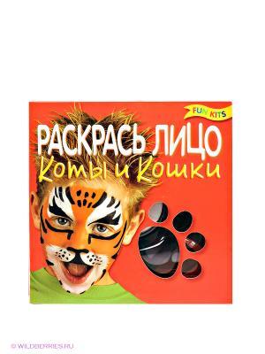 Набор Раскрась лицо. Коты и кошки Fun kits. Цвет: черный, красный