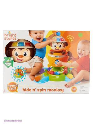 Развивающая игрушка Обезьянка в бочке BRIGHT STARTS. Цвет: коричневый