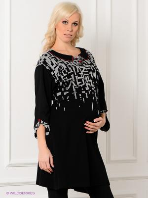 Платье Livaa. Цвет: черный, серый