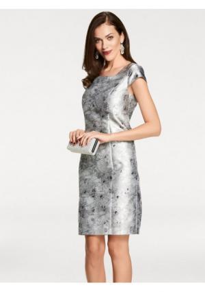 Коктейльное платье ASHLEY BROOKE by Heine. Цвет: серебристый