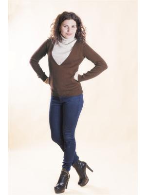 Пуловер Мирося. Цвет: коричневый