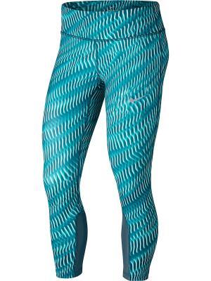 Капри W NK PWR EPIC RUN CROP PR Nike. Цвет: зеленый, синий