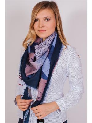 Платок Sophie Ramage. Цвет: синий, красный, розовый