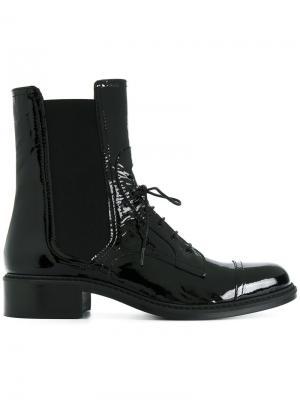 Лакированные ботинки на шнуровке Barbara Bui. Цвет: чёрный