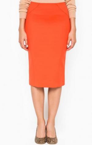 Оранжевая юбка-карандаш Patrizia Pepe. Цвет: оранжевый