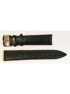 Ремень для часов, Orlando Kroko, нат.крокодил, черный, 20 мм Di-modell. Цвет: черный