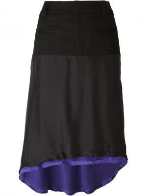 Двухслойная юбка Haider Ackermann. Цвет: чёрный