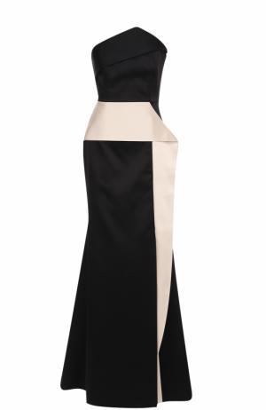Платье-бюстье с оборками Roland Mouret. Цвет: черно-белый