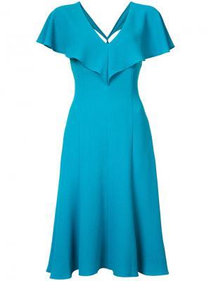 Платье с резным дизайном на спинке Black Halo. Цвет: синий