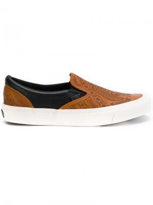 Кеды-слипон OG Vans. Цвет: коричневый