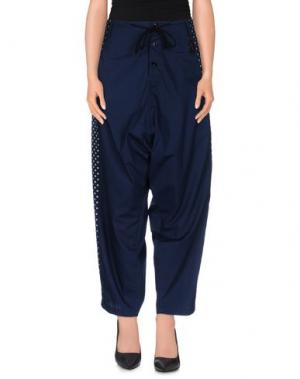 Повседневные брюки GIPSY. Цвет: темно-синий
