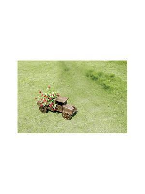 Кашпо для цветов ДСЛ 1412С цвет коричневый (машина) Da Sent Lin ARTS. Цвет: коричневый