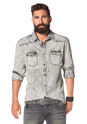 Джинсовая рубашка Otto. Цвет: серый