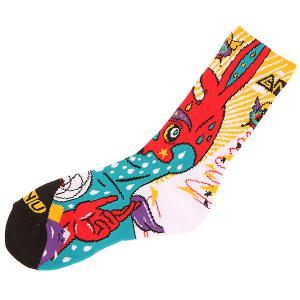 Носки средние  Moon Sock Red GNU. Цвет: мультиколор