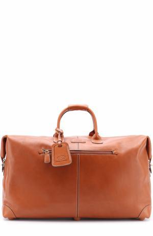 Кожаная дорожная сумка Bric`s. Цвет: светло-коричневый