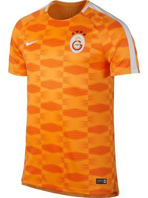Футболка GS M NK DRY SQD TOP SS GX Nike. Цвет: оранжевый