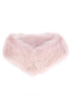 Меховой воротник Desa 1972. Цвет: розовый и фиолетовый