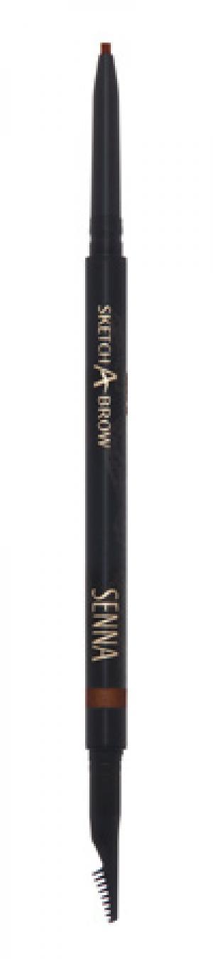 Карандаш для бровей Senna Cosmetics Dark Taupe. Цвет: dark taupe