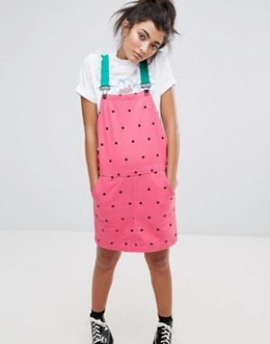 Lazy Oaf Платье-комбинезон Watermelon. Цвет: розовый