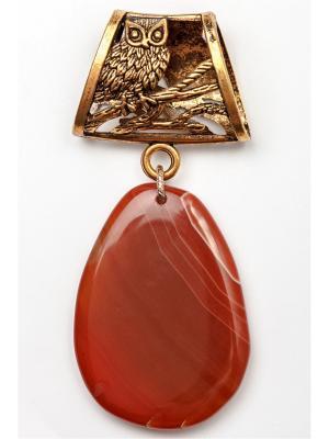 Кулон-украшение для платка Anastasiya Usoltseva. Цвет: темно-коричневый, коричневый, терракотовый